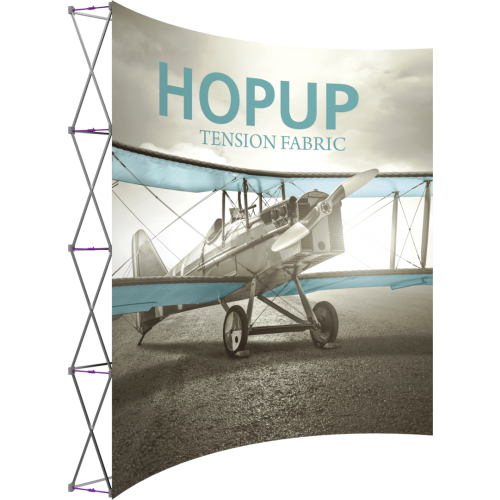 Hopup 10ft Curved Extra Tall Tension Fabric Display