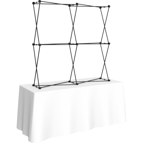 Xclaim 5ft Tabletop Fabric Popup Display Frame