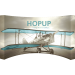 Hopup 15ft Curved Full Height Tension Fabric Display